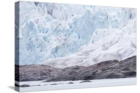 Arctic, Norway, Fourth of July Glacier, Folded Ice, Folded Ice at the Foot of the Glacier-Ellen Goff-Stretched Canvas Print