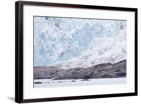 Arctic, Norway, Fourth of July Glacier, Folded Ice, Folded Ice at the Foot of the Glacier-Ellen Goff-Framed Art Print