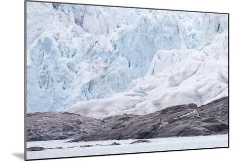 Arctic, Norway, Fourth of July Glacier, Folded Ice, Folded Ice at the Foot of the Glacier-Ellen Goff-Mounted Photographic Print