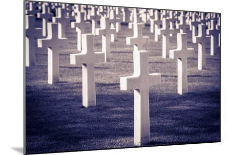 Graves at the American Cemetery, Omaha Beach, Colleville-Sur-Mer, Normandy, France-Russ Bishop-Mounted Photographic Print