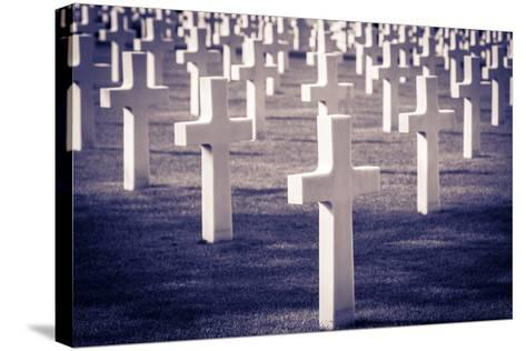 Graves at the American Cemetery, Omaha Beach, Colleville-Sur-Mer, Normandy, France-Russ Bishop-Stretched Canvas Print