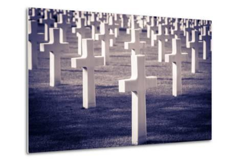 Graves at the American Cemetery, Omaha Beach, Colleville-Sur-Mer, Normandy, France-Russ Bishop-Metal Print