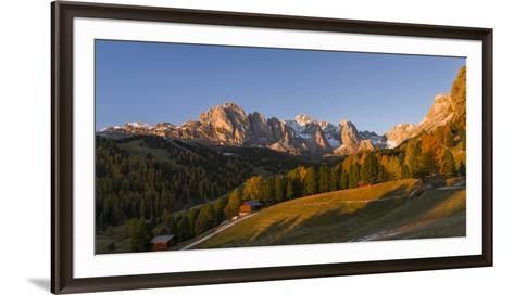 Geisler Mountain Range, Odle in the Dolomites, Groeden Valley, Val Gardena, South Tyrol, Alto Adige-Martin Zwick-Framed Art Print