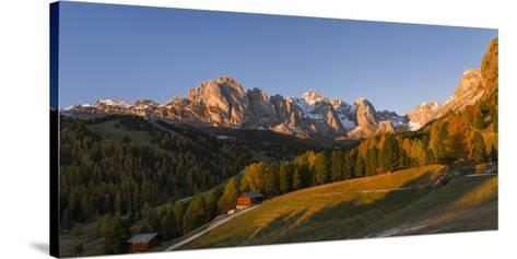 Geisler Mountain Range, Odle in the Dolomites, Groeden Valley, Val Gardena, South Tyrol, Alto Adige-Martin Zwick-Stretched Canvas Print