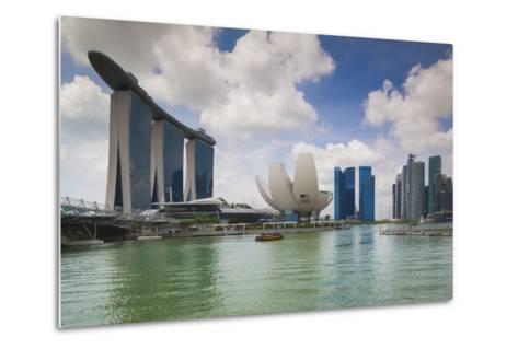 Singapore, Cityscape Full of Unique Skyscrapers-Walter Bibikow-Metal Print