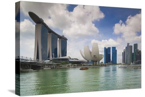 Singapore, Cityscape Full of Unique Skyscrapers-Walter Bibikow-Stretched Canvas Print