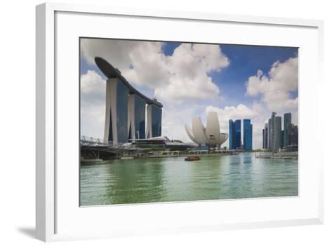 Singapore, Cityscape Full of Unique Skyscrapers-Walter Bibikow-Framed Art Print