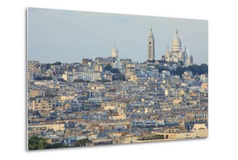 Sacre Coeur and Montmartre Seen from Arc De Triomphe. Paris. France-Tom Norring-Metal Print