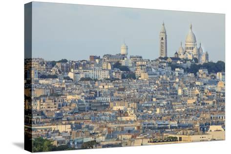 Sacre Coeur and Montmartre Seen from Arc De Triomphe. Paris. France-Tom Norring-Stretched Canvas Print