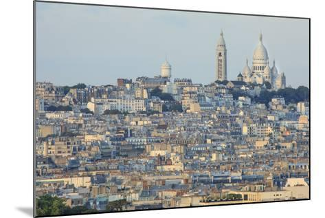 Sacre Coeur and Montmartre Seen from Arc De Triomphe. Paris. France-Tom Norring-Mounted Photographic Print