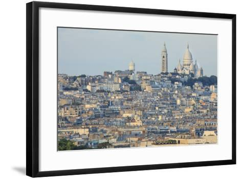 Sacre Coeur and Montmartre Seen from Arc De Triomphe. Paris. France-Tom Norring-Framed Art Print