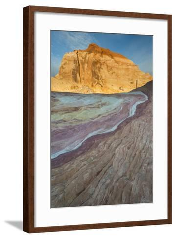 Nevada, Valley of Fire State Park. Erosion Shaped Abstract Design from Layered Sandstone-Judith Zimmerman-Framed Art Print