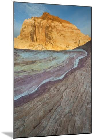 Nevada, Valley of Fire State Park. Erosion Shaped Abstract Design from Layered Sandstone-Judith Zimmerman-Mounted Photographic Print