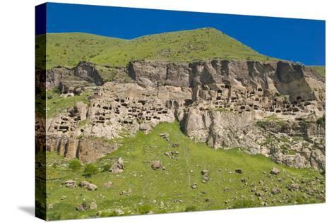 Vardzia Cave City, Monastery in Georgia, Caucasus-Michael Runkel-Stretched Canvas Print