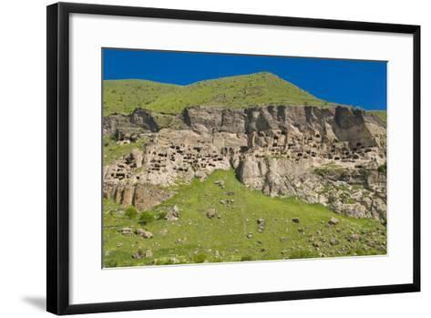 Vardzia Cave City, Monastery in Georgia, Caucasus-Michael Runkel-Framed Art Print