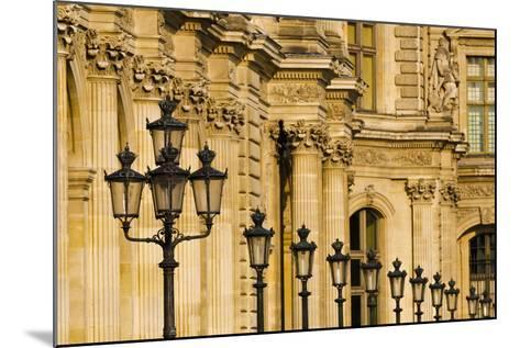 Lamp Posts and Columns at the Louvre Palace, Paris, France-Russ Bishop-Mounted Photographic Print