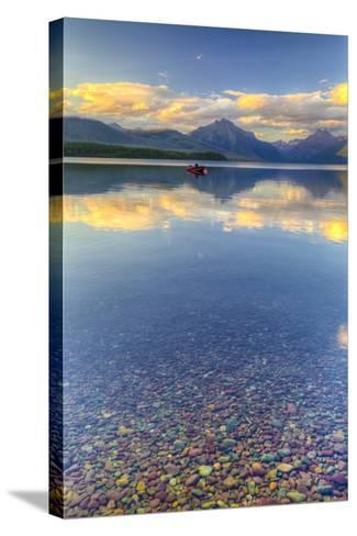 Montana, Glacier National Park. Lake Macdonald Landscape-Jaynes Gallery-Stretched Canvas Print