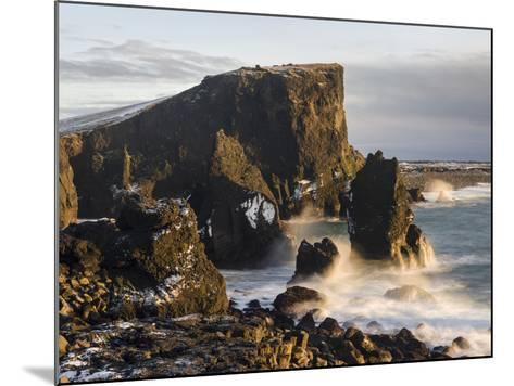 North Atlantic Coast During Winter Near Reykjanesviti and Valahnukur. Iceland-Martin Zwick-Mounted Photographic Print