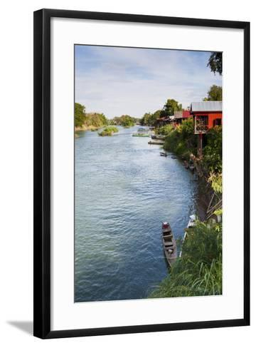 The Island of Don Det Is an Upcoming Backpacker Stop on Mekong River Along Cambodia and Laos Border-Micah Wright-Framed Art Print