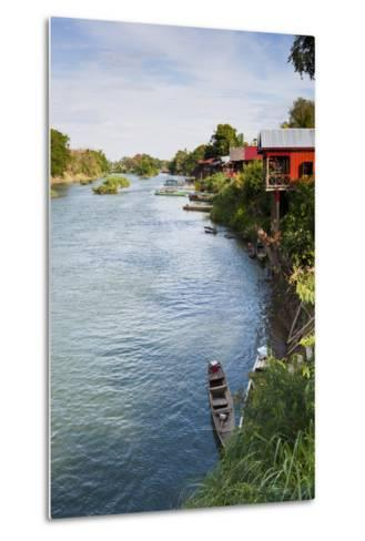 The Island of Don Det Is an Upcoming Backpacker Stop on Mekong River Along Cambodia and Laos Border-Micah Wright-Metal Print