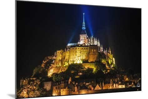 Mont Saint-Michel Illuminated at Night, Normandy, France-Russ Bishop-Mounted Photographic Print