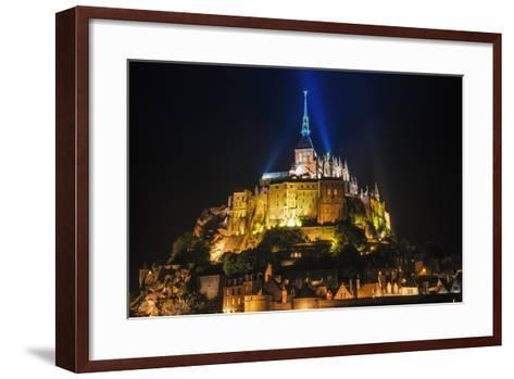 Mont Saint-Michel Illuminated at Night, Normandy, France-Russ Bishop-Framed Art Print