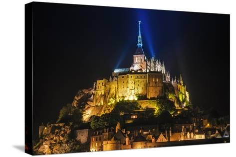 Mont Saint-Michel Illuminated at Night, Normandy, France-Russ Bishop-Stretched Canvas Print