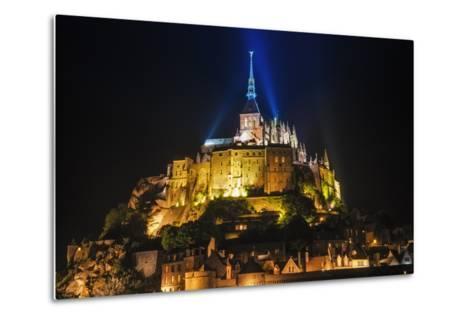 Mont Saint-Michel Illuminated at Night, Normandy, France-Russ Bishop-Metal Print