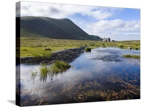 Foula Part of Shetland Islands, it Is One of Most Remote Permanently Inhabited Islands , Background-Martin Zwick-Stretched Canvas Print