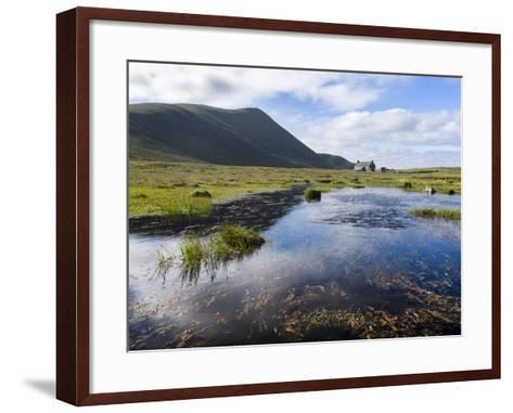 Foula Part of Shetland Islands, it Is One of Most Remote Permanently Inhabited Islands , Background-Martin Zwick-Framed Art Print