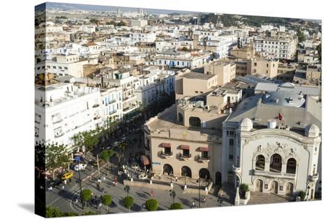 Municipal Theatre, Avenue Habib Bourguiba, Tunis, Tunisia, North Africa-Nico Tondini-Stretched Canvas Print