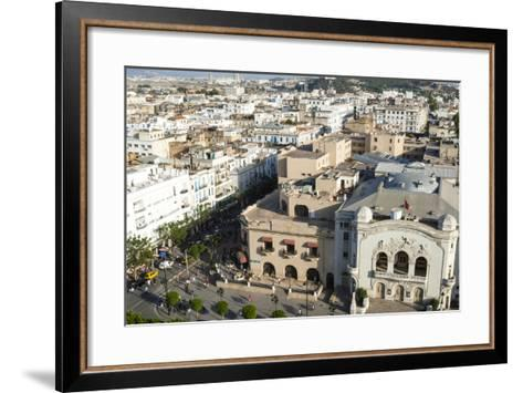 Municipal Theatre, Avenue Habib Bourguiba, Tunis, Tunisia, North Africa-Nico Tondini-Framed Art Print