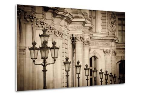 Lamp Posts and Columns at the Louvre Palace, Paris, France-Russ Bishop-Metal Print