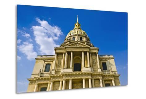 Gold-Domed Chapel of Saint-Louis, Les Invalides, Paris, France-Russ Bishop-Metal Print