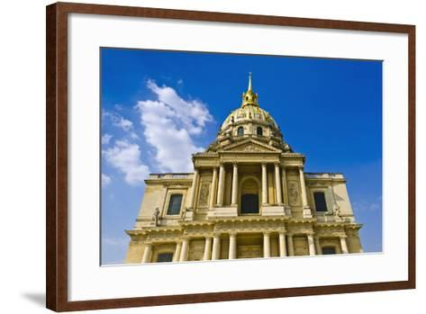 Gold-Domed Chapel of Saint-Louis, Les Invalides, Paris, France-Russ Bishop-Framed Art Print