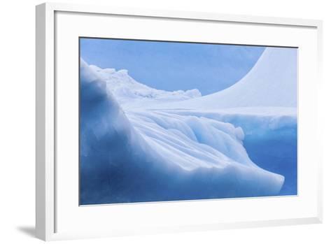 South Georgia Island. Iceberg Shapes and Hues-Jaynes Gallery-Framed Art Print