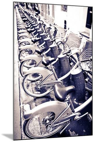 Velib Bicycles for Rent, Paris, France-Russ Bishop-Mounted Photographic Print