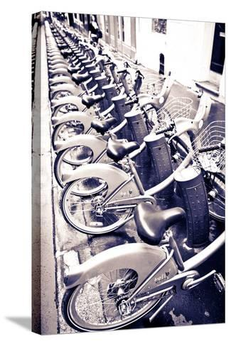 Velib Bicycles for Rent, Paris, France-Russ Bishop-Stretched Canvas Print