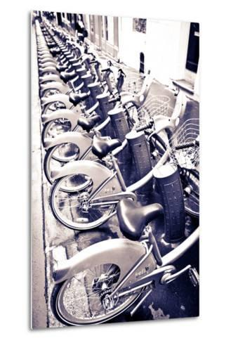 Velib Bicycles for Rent, Paris, France-Russ Bishop-Metal Print