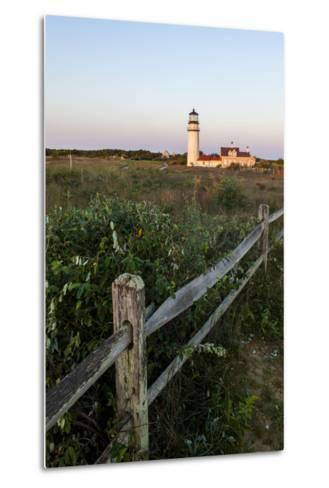 The Cape Cod Lighthouse,. Highland Light, in Truro, Massachusetts-Jerry and Marcy Monkman-Metal Print