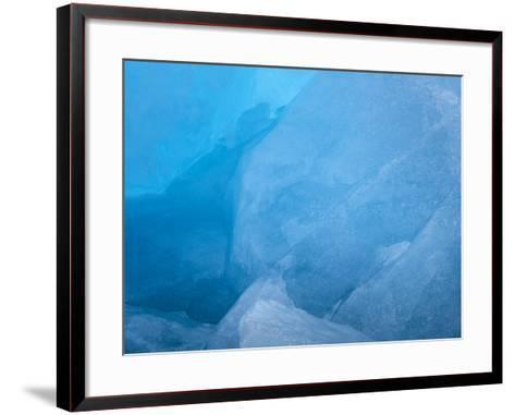 Arctic Ocean, Norway, Svalbard. Close-Up of Glacier Ice-Jaynes Gallery-Framed Art Print
