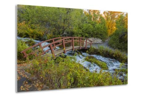 Utah, Wasatch Cache National Forest. Bridge over Stream-Jaynes Gallery-Metal Print