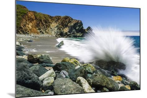 Boulders and Crashing Surf, Limekiln State Park, Big Sur, California, Usa-Russ Bishop-Mounted Photographic Print