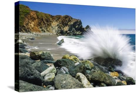 Boulders and Crashing Surf, Limekiln State Park, Big Sur, California, Usa-Russ Bishop-Stretched Canvas Print