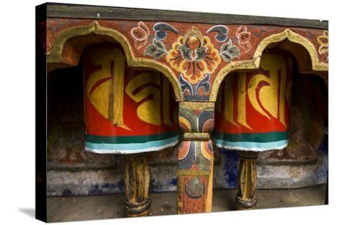 Typical Buddhist Praying Role, Kyichu Lhakhang, Bhutan-Michael Runkel-Stretched Canvas Print