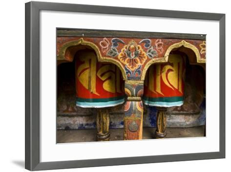 Typical Buddhist Praying Role, Kyichu Lhakhang, Bhutan-Michael Runkel-Framed Art Print