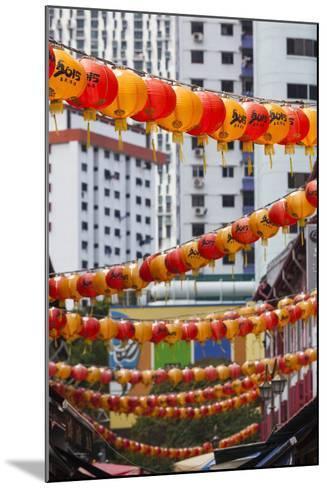 Singapore, Chinatown, Lantern Decorations-Walter Bibikow-Mounted Photographic Print