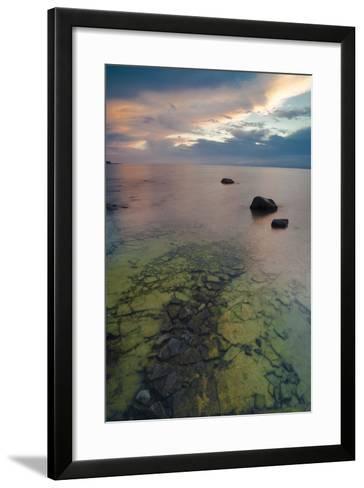 Michigan. Sunset at Fisherman's Island State Park on Lake Michigan-Judith Zimmerman-Framed Art Print