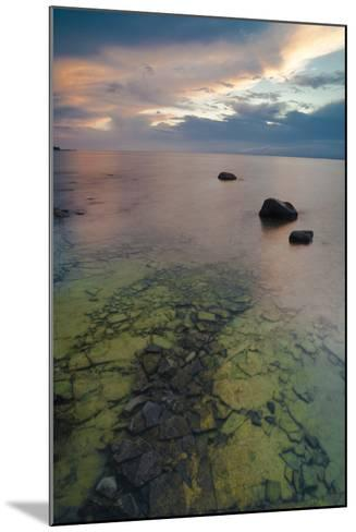 Michigan. Sunset at Fisherman's Island State Park on Lake Michigan-Judith Zimmerman-Mounted Photographic Print