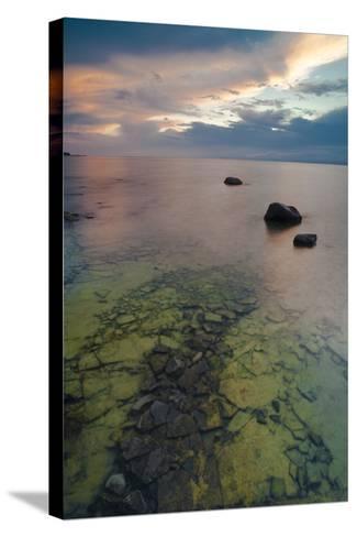 Michigan. Sunset at Fisherman's Island State Park on Lake Michigan-Judith Zimmerman-Stretched Canvas Print